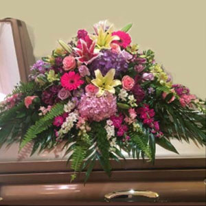 Morristown Florist | Bright Casket Spray