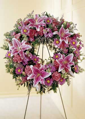 Morristown Florist | Lily Wreath
