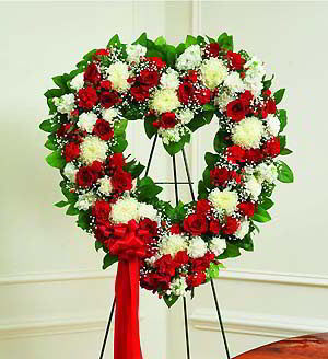 Morristown Florist | Red & White Heart