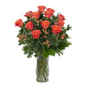 Morristown Florist | 12 Orange Roses